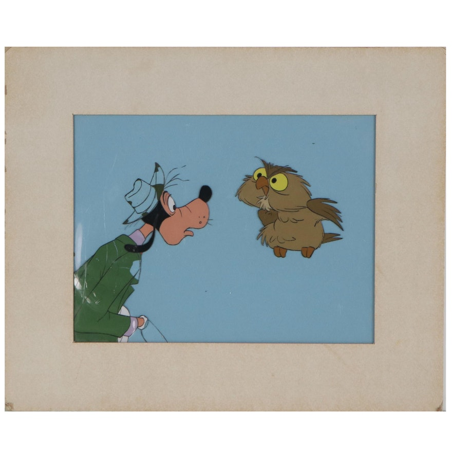 Walt Disney Production Animation Cel of Goofy