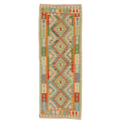 2'6 x 6'6 Handwoven Afghan Kilim Carpet Runner