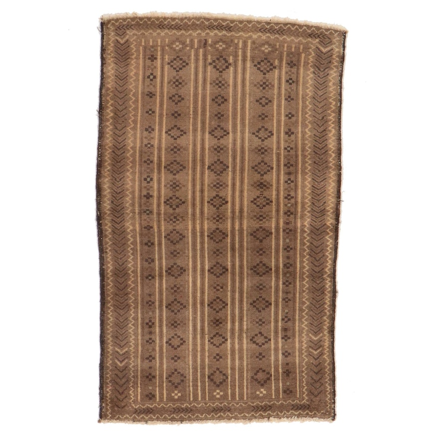 2'11 x 4'10 Hand-Knotted Afghan Gabbeh Accent Rug