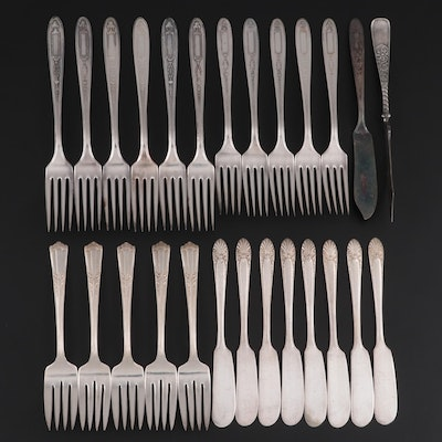 """Oneida """"Grosvenor"""" and Other Silver Plate Flatware"""