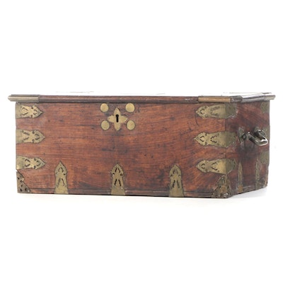 Indian Brass-Mounted Hardwood Chest, 18th/19th Century