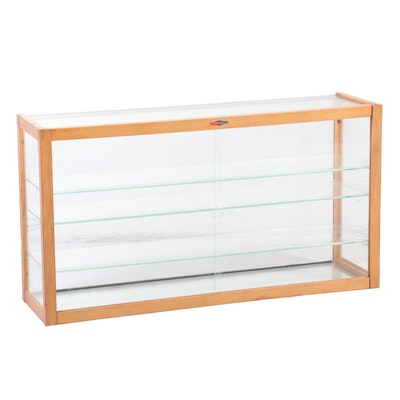 Waddell Maple and Glass Merchandising Display Cabinet