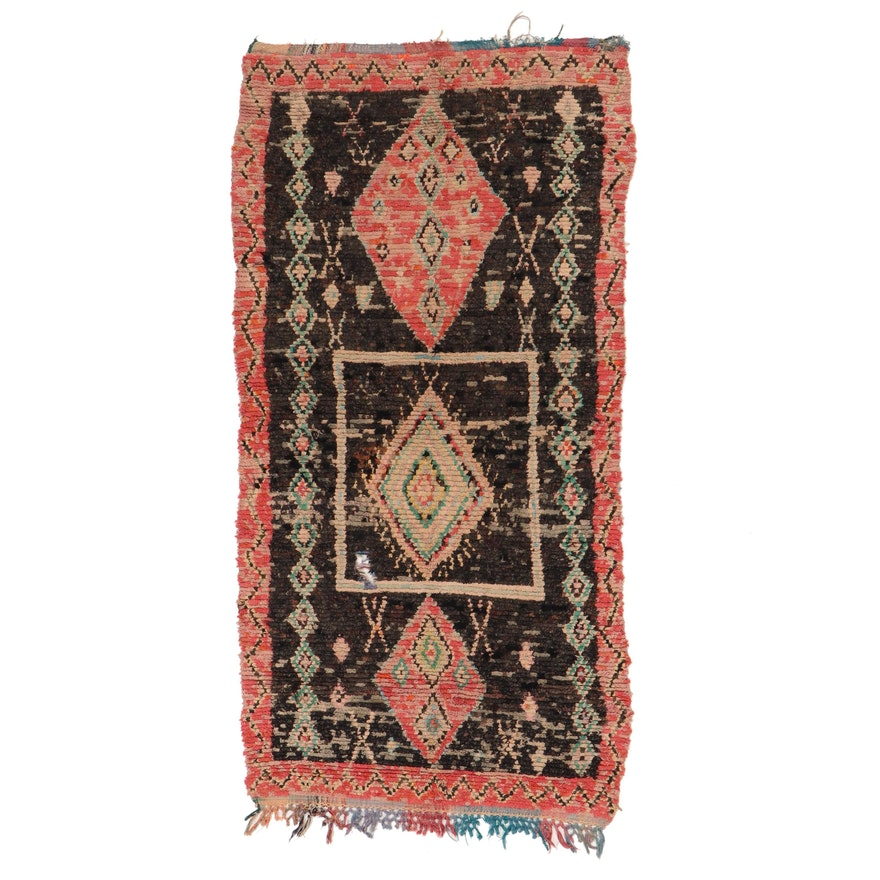 4'5 x 9' Hand-Knotted Moroccan Rag Rug