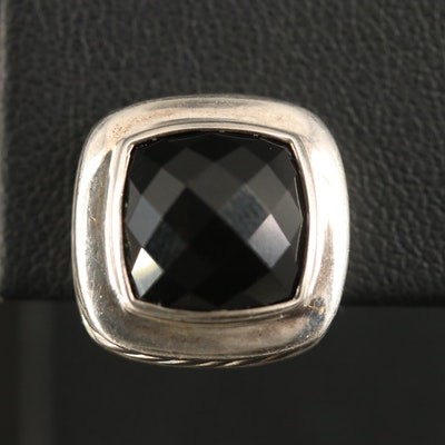 David Yurman Sterling Black Onyx Single Earring