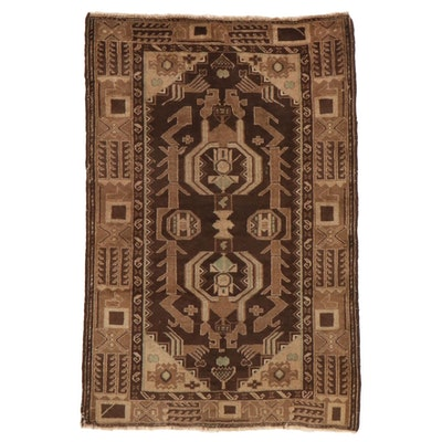 3'1 x 4'8 Hand-Knotted Afghan Baluch Accent Rug