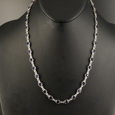 18K Iolite Station Necklace