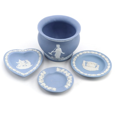 Wedgwood Jasperware Trinket Dishes and Jasperware Style Cache Pot