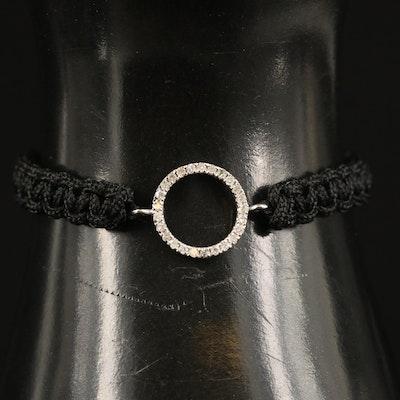 14K Diamond Pendant Bracelet