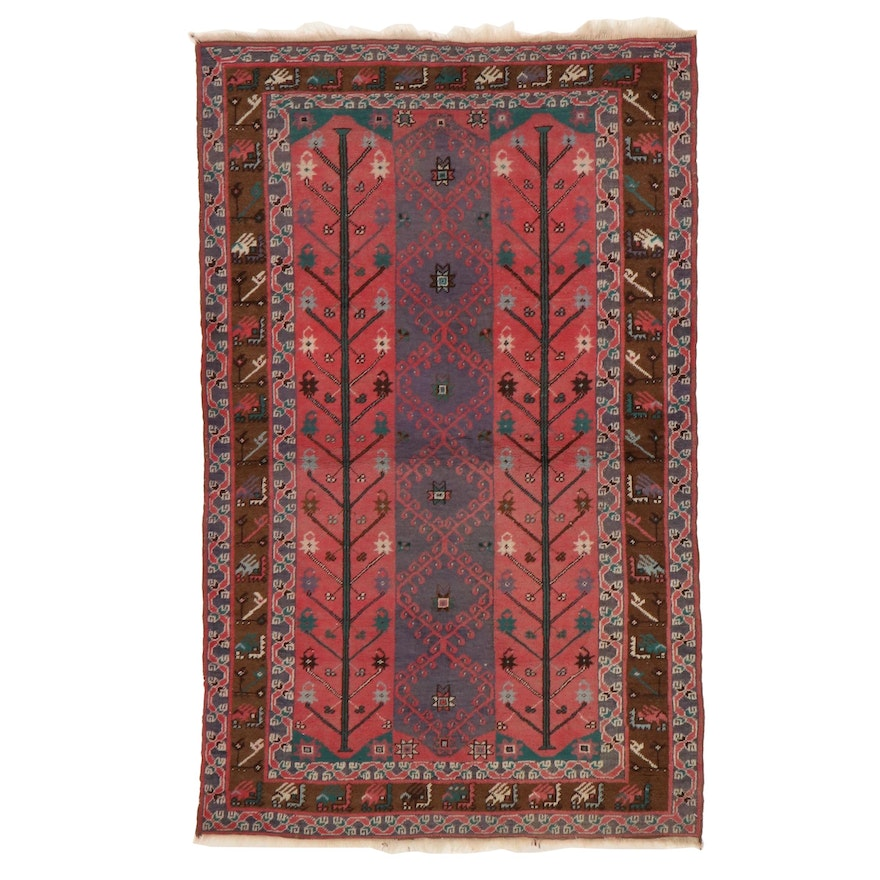 3'7 x 5'9 Hand-Knotted Persian Kazak Area Rug