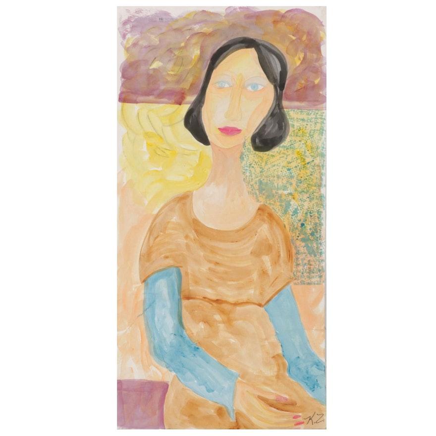 Kathleen Zimbicki Watercolor Painting Portrait