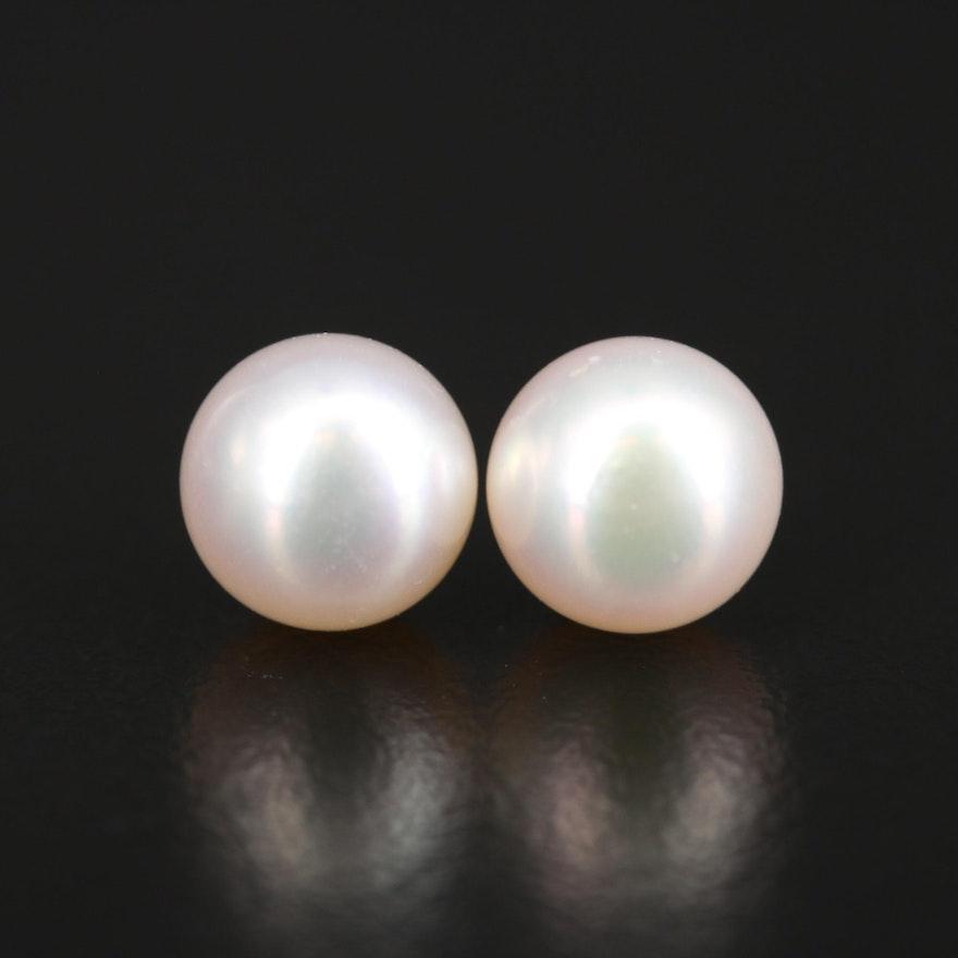 14K Pearl Stud Earrings