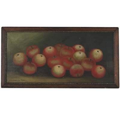 Mary Bersinger Keith Still Life Oil Painting of Apples, Circa 1900
