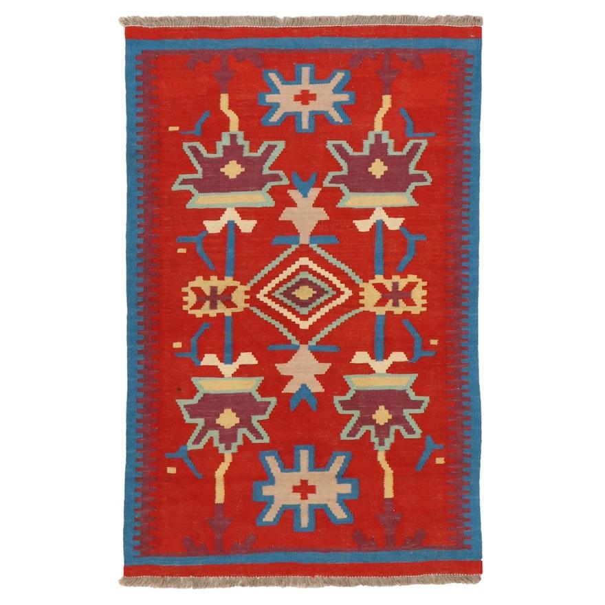 3'3 x 5'3 Handwoven Afghan Village Kilim Area Rug