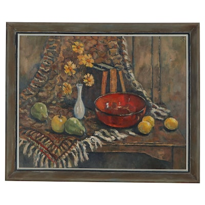Still Life Oil Painting, Mid-20th Century