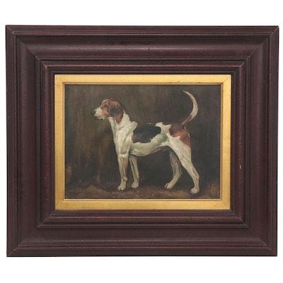 Oil Portrait of Beagle, Late 20th Century
