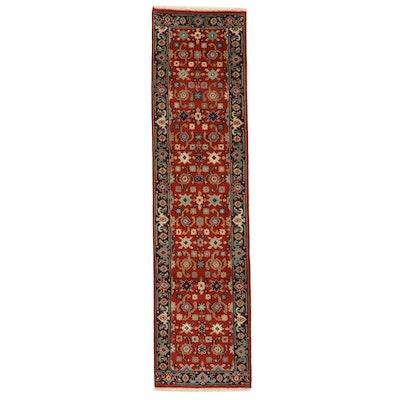 2'6 x 10'0 Hand-Knotted Indo-Persian Heriz Serapi Carpet Runner