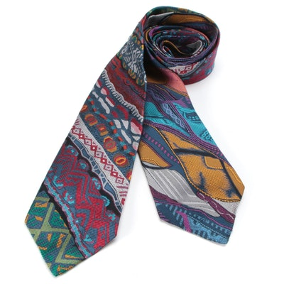 Coogi Australia Silk Jacquard Mixed Pattern Neckties