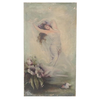 Poesia Style Oil Painting, Late 19th Century