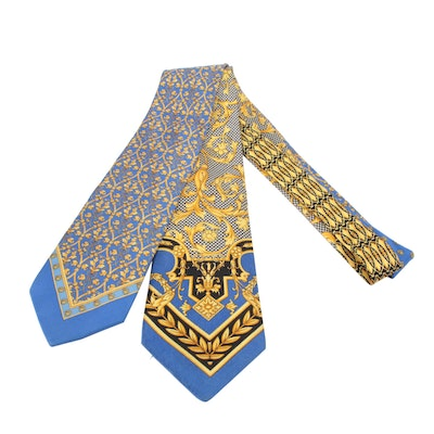 Gianni Versace Patterned Silk Neckties