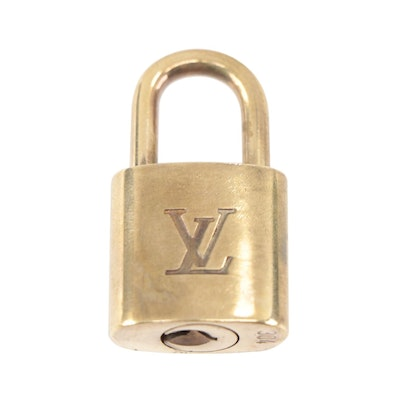 Louis Vuitton Brass Padlock and Key