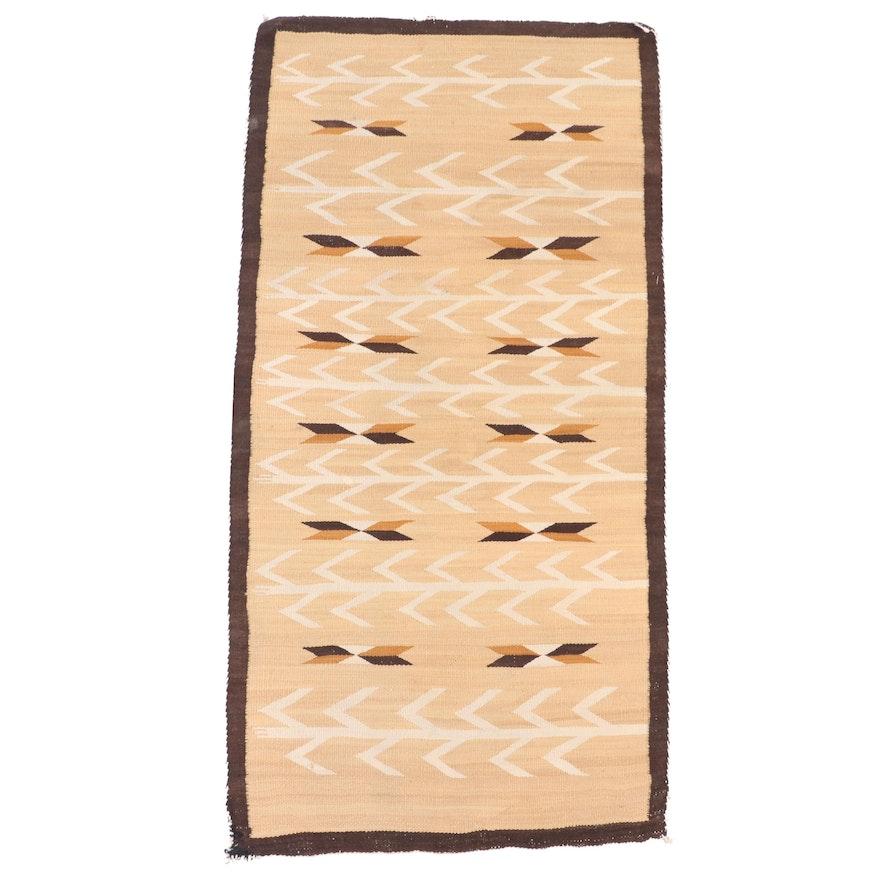 2'5 x 5'1 Handwoven Mexican Zapotec Wool Area Rug