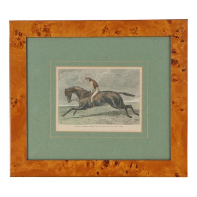 """Wood Engraving """"Flying Dutchman, Winner of the Derby and St. Leger, 1849"""""""