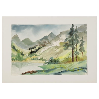 Betty Phillips Mountain Landscape Watercolor Painting