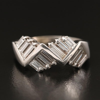 14K 1.45 CTW Diamond Zigzag Band