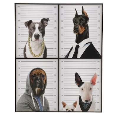 "Offset Lithograph Poster ""Most Wanted Dogs,"" 21st Century"