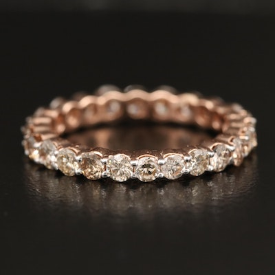 14K Rose Gold 1.76 CTW Diamond Eternity Band