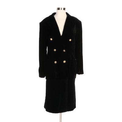 Lauren Ralph Lauren Velvet Suiting Jacket with Pendleton Velvet Skirt