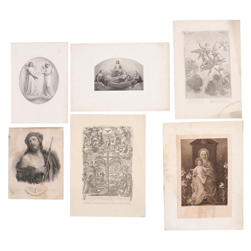 Engravings and Lithographs of Catholic Imagery, 19th Century