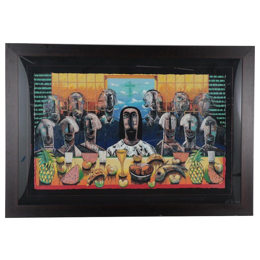 """Vladimir Cora Serigraph """"La Ultima Asamblea,"""" 2003"""