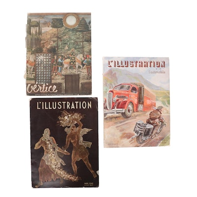 """""""L'Illustration"""" and """"Vertice"""" Magazine Issues, 1940s"""
