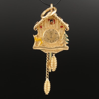18K Enamel Articulated Cuckoo Clock
