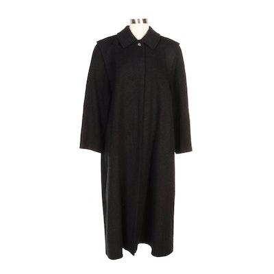 Schneiders of Salzburg Full-Length Coat in Heather Grey Wool