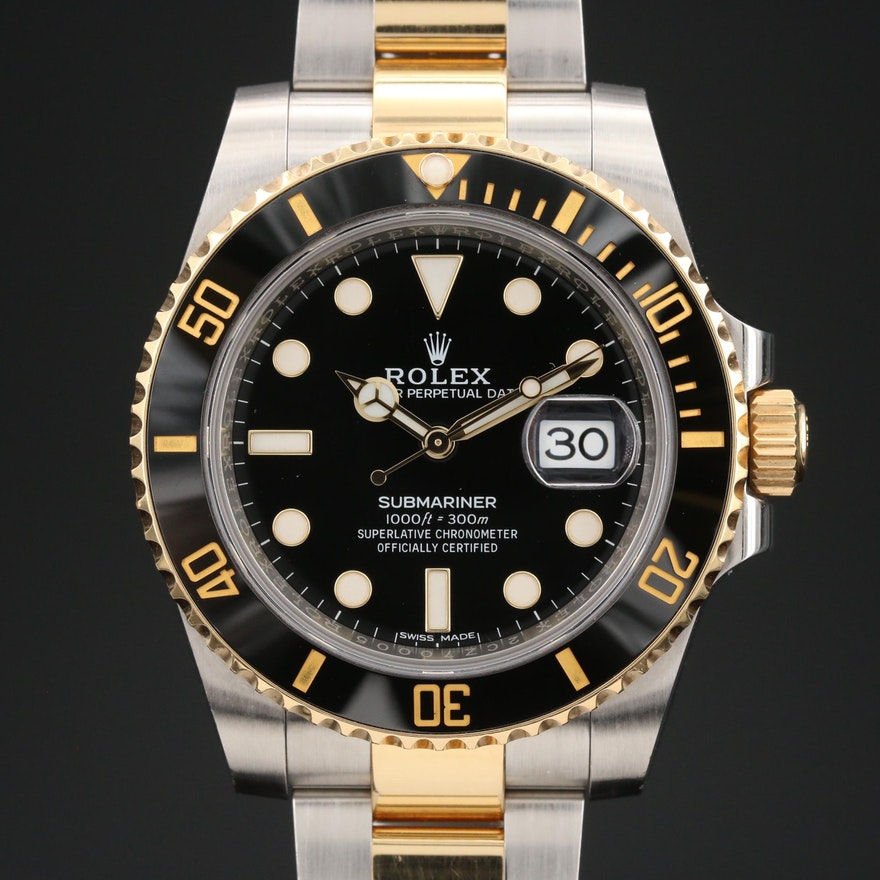 Rolex Submariner 116613LN 18K and Stainless Steel Automatic Wristwatch