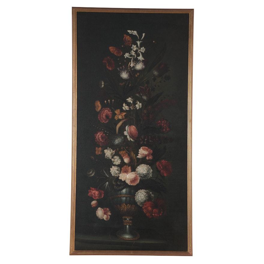 Floral Still Life Oil Painting, circa 2000