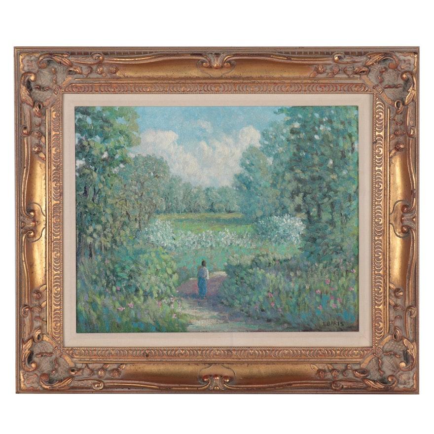 Joseph Baris Impressionist Style Oil Painting