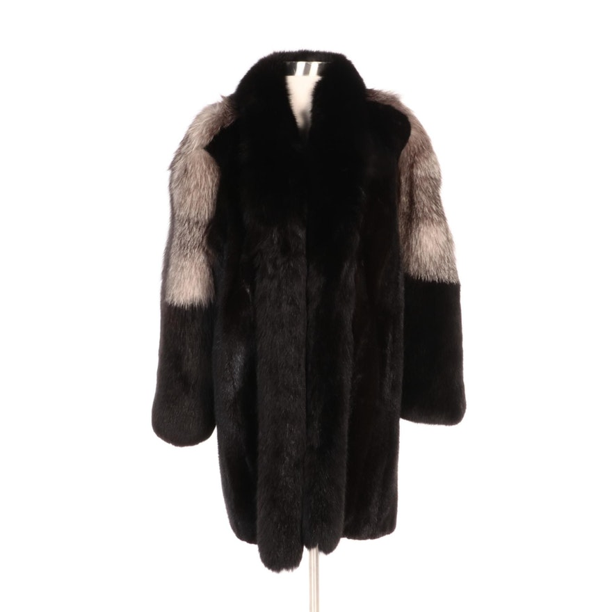 Mink and Fox Fur Stroller Coat from Pavlis Furs