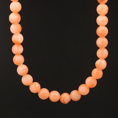 Endless Beaded Coral Necklace