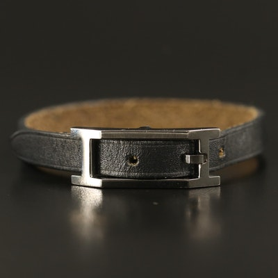 "Hermès ""Hapi"" Leather Bracelet"