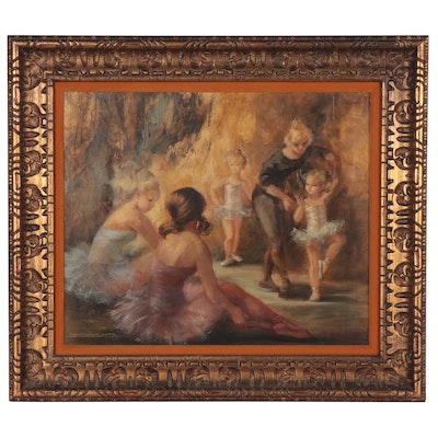 Montserrat Barta Oil Painting of Ballerinas