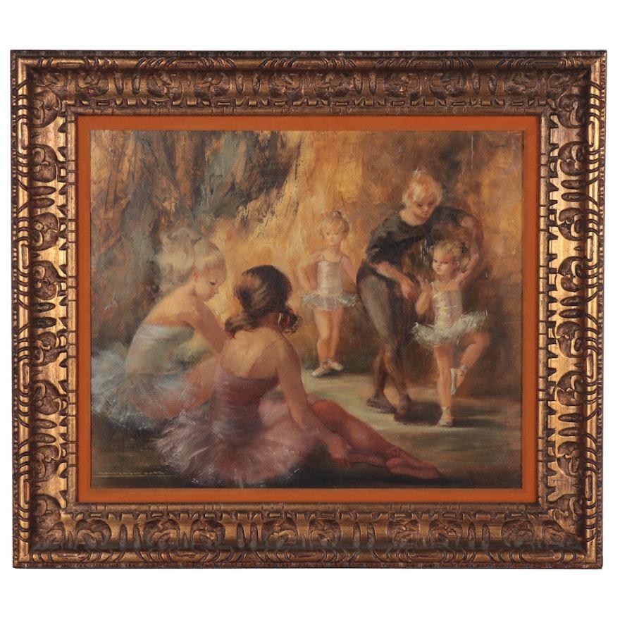 Montserrat Barta Oil Painting of Ballerinas