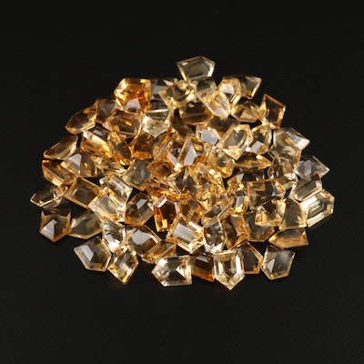 Loose 96.75 CTW Bullet Faceted Citrine