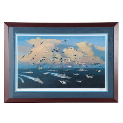 Stan Stokes Giclée of Military Aircraft and Ships