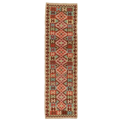 2'11 x 10'3 Handwoven Afghan Turkish Kilim Carpet Runner