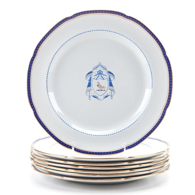 Copeland Spode Armorial Style Ironstone Dinner Plates, Late 19th-Early 20th C.