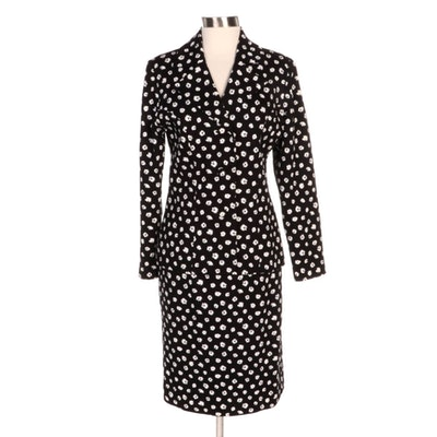 Nina Raynor Daisy Print Jacquard Skirt Suit