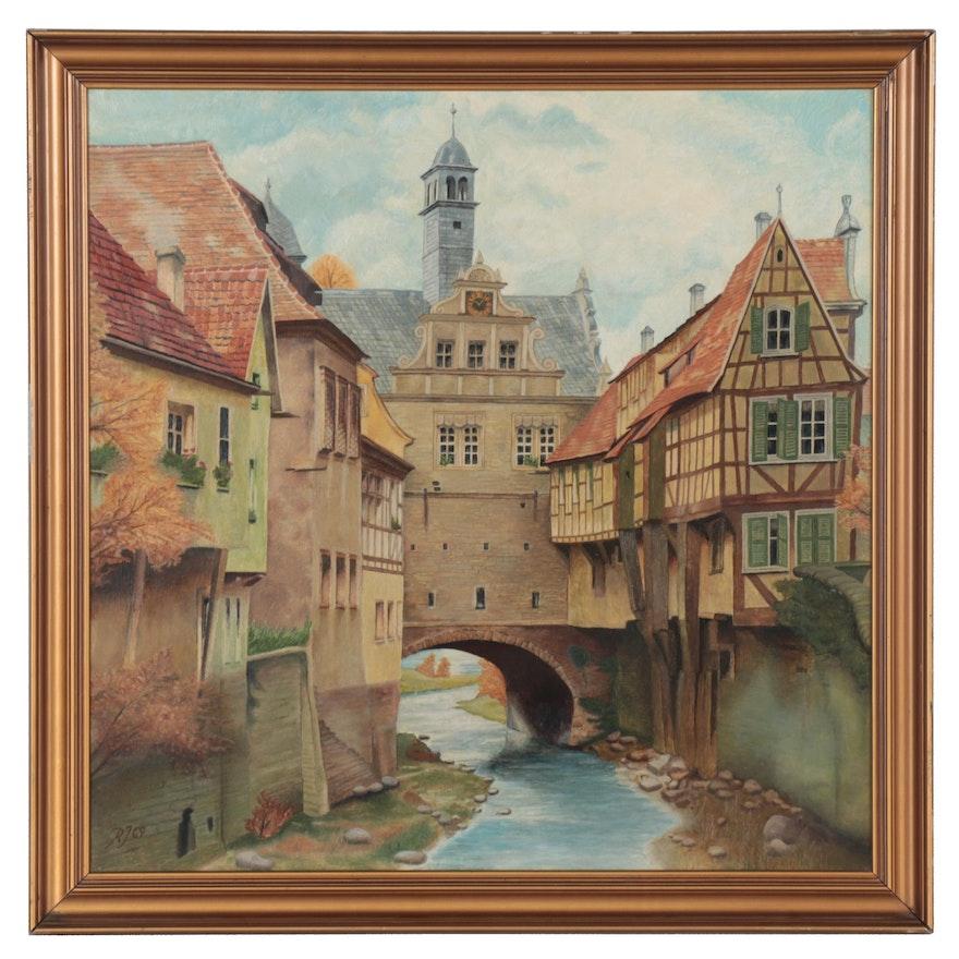 "Oil Painting ""Marktbreit a. M."" 1969"